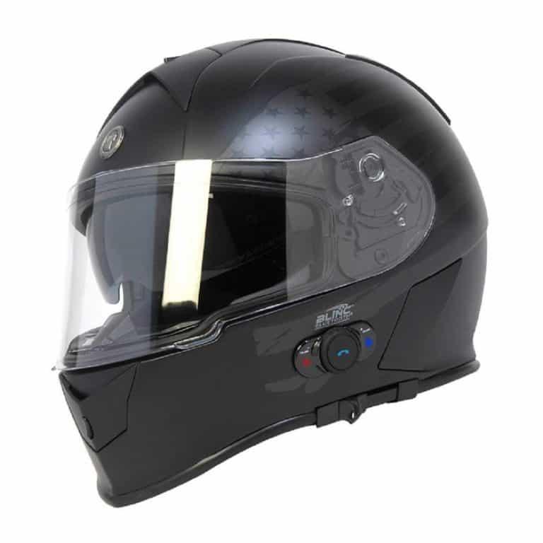 TORC T14B BLUETOOTH FLAT MATTE BLACK FULL FACE MOTORCYCLE HELMET DOT XS XXL