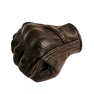 Superbike Breathable Leather Motorcycle Gloves Touchscreen Knuckle Protector Brown Motorbike Gloves For Men