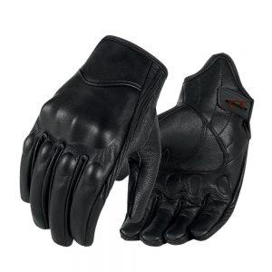 Superbike Full finger Goat Skin Leather Touch Screen Motorcycle Gloves Men