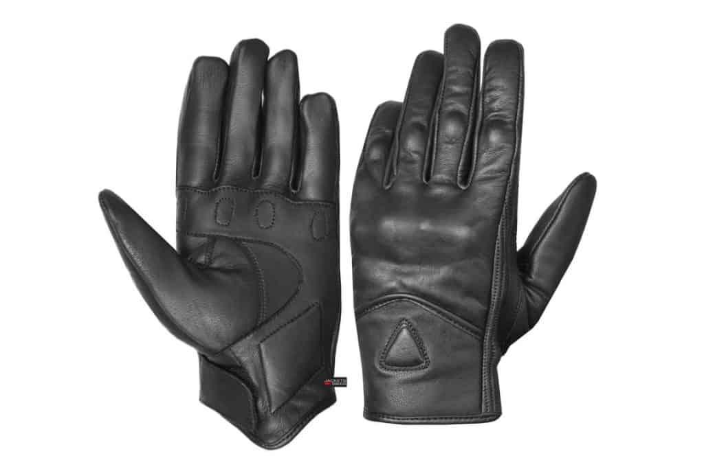 Mens Premium Leather Street Motorbike Gloves