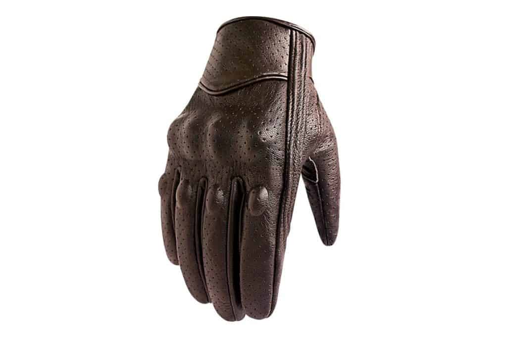 Superbike Breathable Leather Motorcycle Gloves