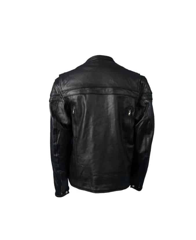 Hot-Leathers-JKM1011MenHeavyweight-Black-Leather-Jacket-with-Double-Piping