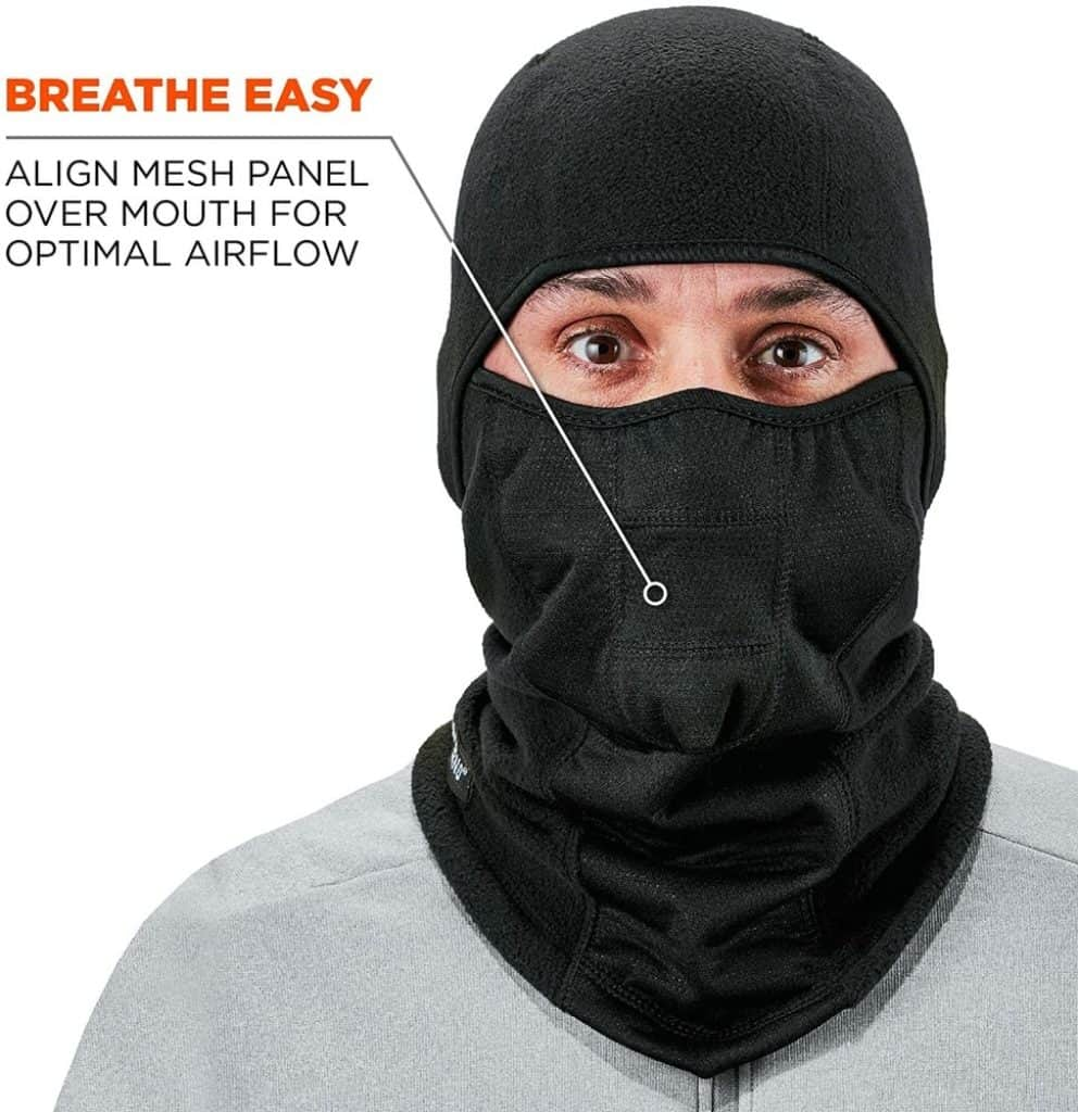 Man with Ergodyne Balaclava Ski Mask photo 2