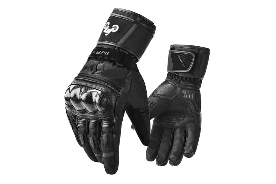 INBIKE Winter Goat Skin Motorcycle Gloves
