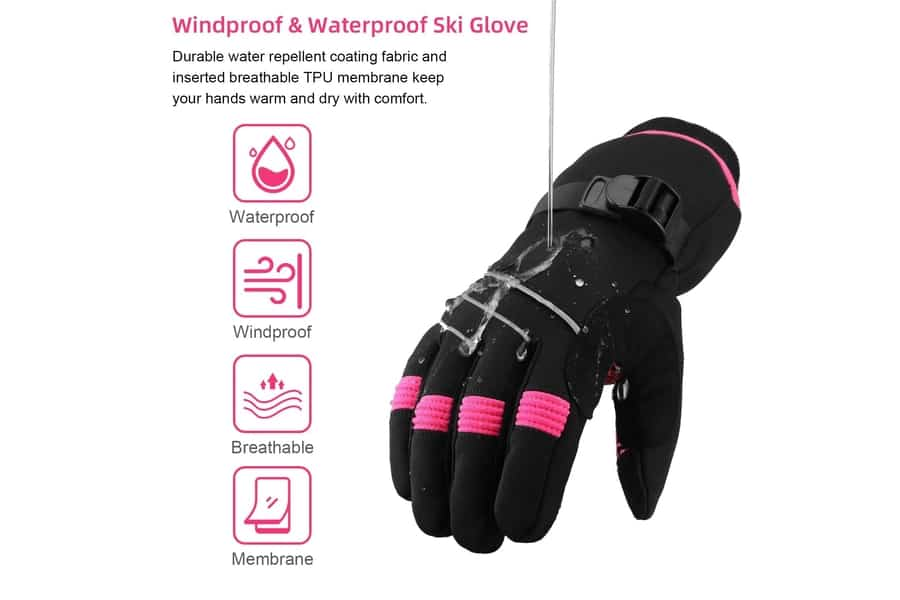 MOREOK 3M Thinsulate Windproof Thermal Gloves
