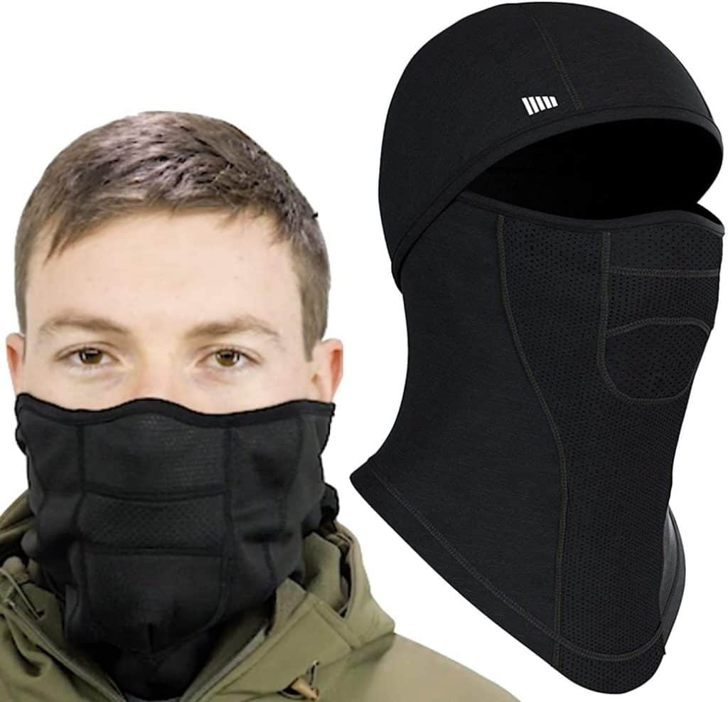 Man with Self Pro Balaclava Face Mask
