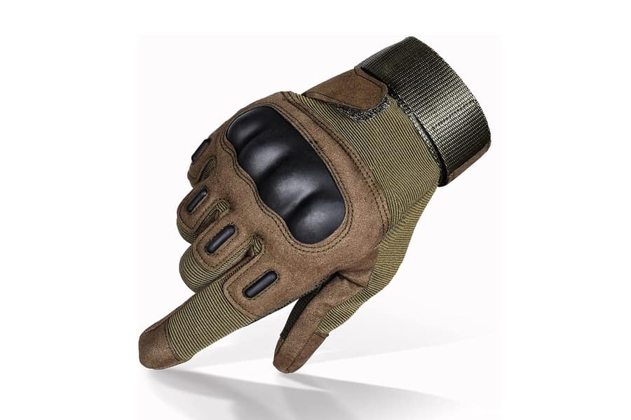 TitanOPS Full Finger Hard Knuckle Motorcycle Gloves