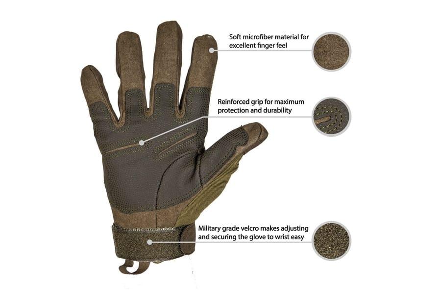 TitanOPS Full Finger Hard Knuckle Motorcycle Gloves