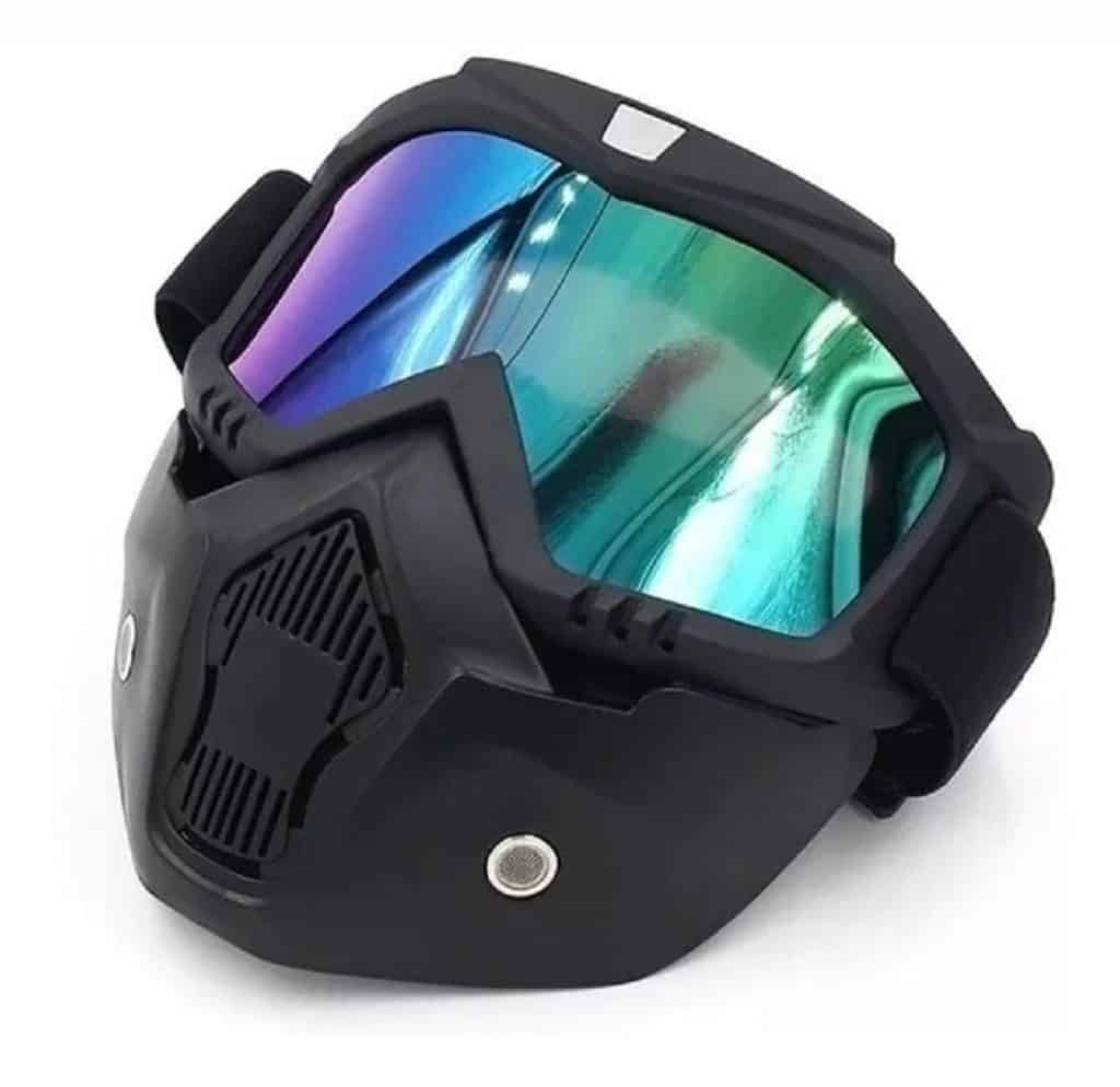 Ubelly Motorcycle Goggles with Detachable Mask