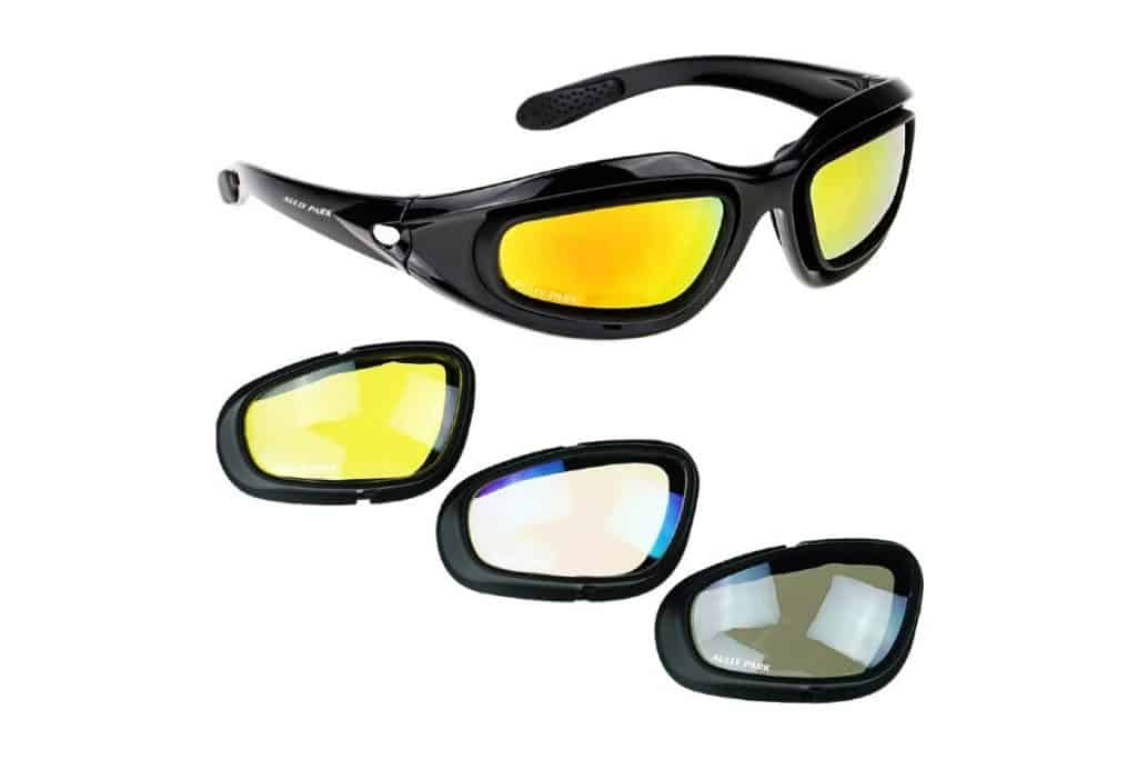 lenses of AULLY PARK Polarized Motorcycle Riding Glasses