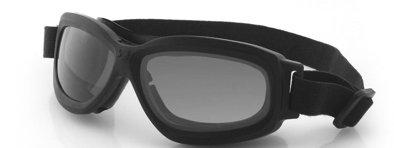 Bobster Crossfire Small Folding Goggles Black Frame