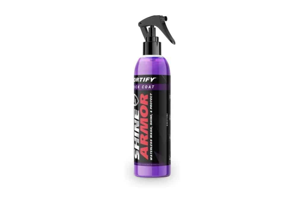 bottle of Shine Armour Fortify Quick Coat Wax Spray
