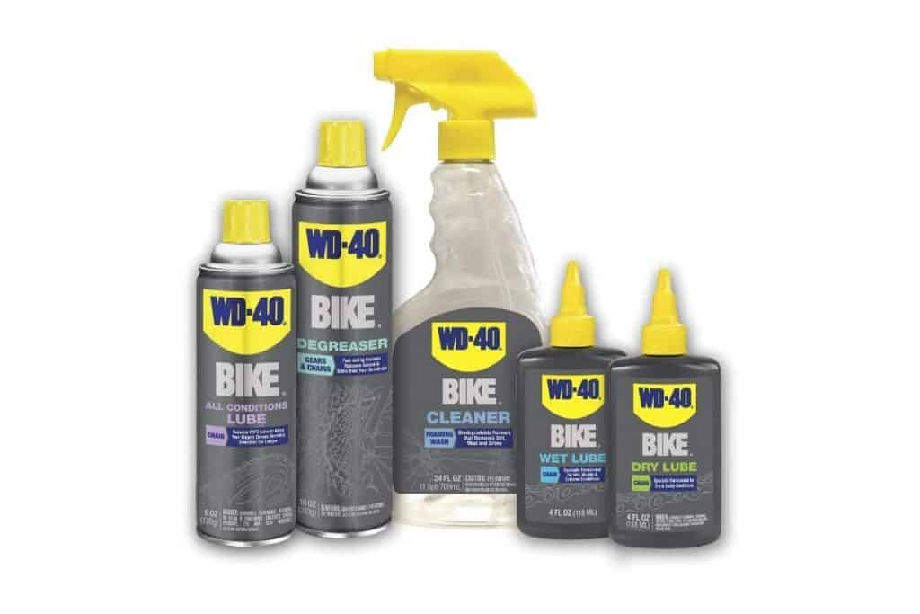 WD-40 Bike, All Conditions Lube, Bike Cleaner, Degreaser, Dry Lube, Wet Lube full kit white background
