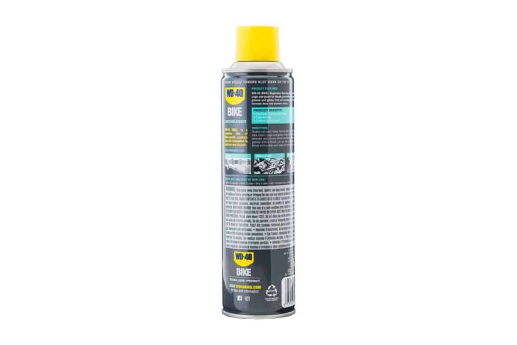 WD-40 Bike Degreaser container rear view white background