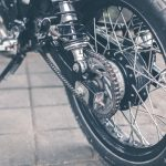 clean motorcycle chain close distance