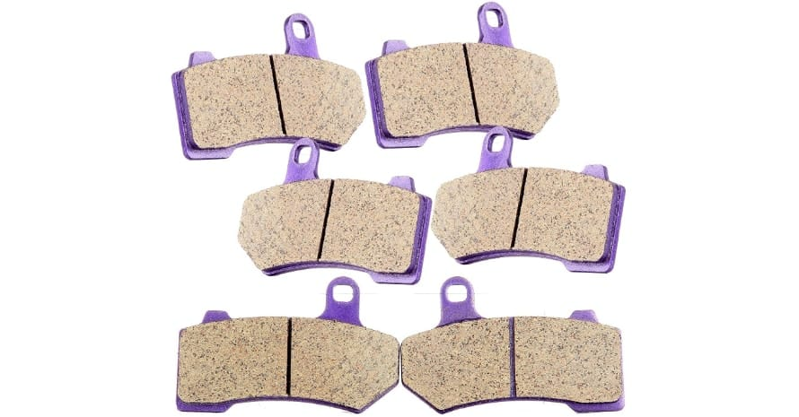 TUPARTS Front and Rear Brake Pads