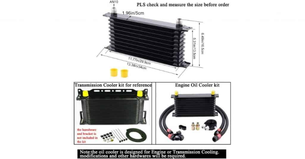 Oil Cooler EVIL ENERGY 10 Row AN10